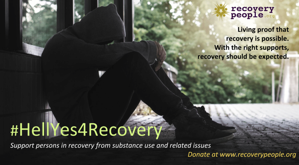 HellYes4Recovery social media